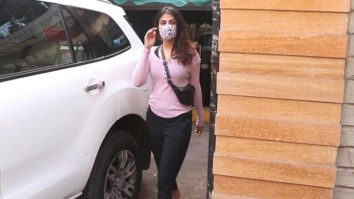 Rhea Chakraborty with brother Showik Chakraborty spotted at gym in Santacruz