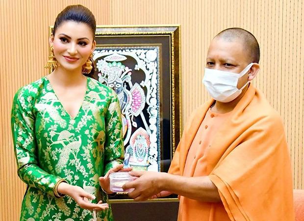 Urvashi Rautela meets CM Yogi Adityanath during the shoot of Inspector Avinash in Lucknow