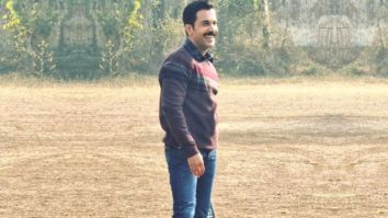 Video: Rajkummar Rao plays cricket on the sets of Junglee Pictures' 'Badhaai Do' and Bhumi Pednekar shares a cool BTS