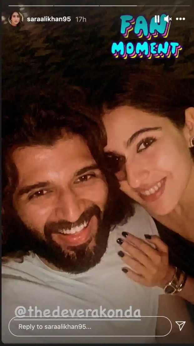 Sara Ali Khan has her fan moment with Vijay Deverakonda