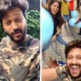 Riteish Deshmukh and Genelia D'souza celebrate their pet dog's birthday with viral 'Pawri Ho Rahi Hai' trend