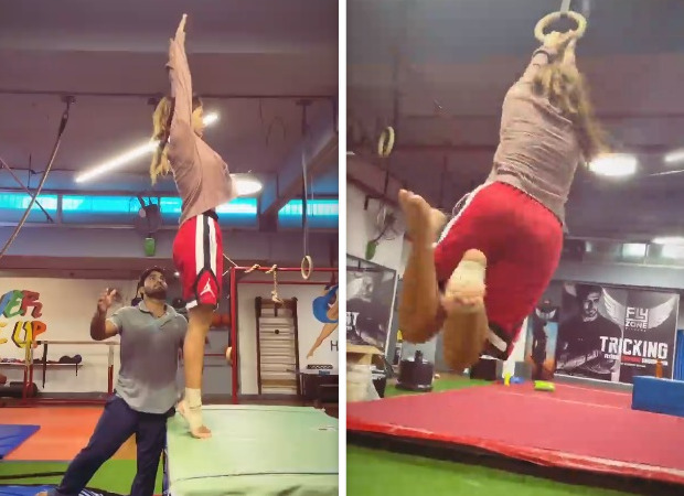 Disha Patanigives serious fitness goals while practicing gymnastics, watch video