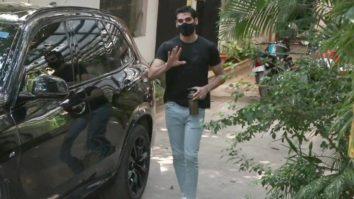Ahan Shetty, Mana Shetty & Athiya Shetty spotted at John Abraham's office in Bandra