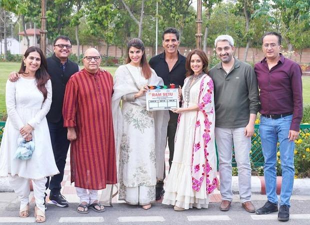 Akshay Kumar, Jacqueline Fernandez, Nushrratt Bharuccha are all smiles in Ayodhya for the Ram Setu mahurat day