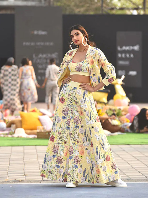 Athiya Shetty brings grace and easygoing charm to Lakme Fashion Week 2021 in Payal Singhal collection