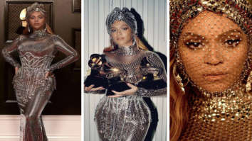 Beyoncé stuns in silver metal mesh gown by Burberry's Riccardo Tisci after making history at Grammys 2021