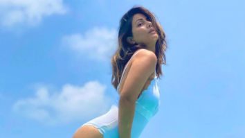Hina Khan looks like a vision in a white monokini as she poses flaunting her curves