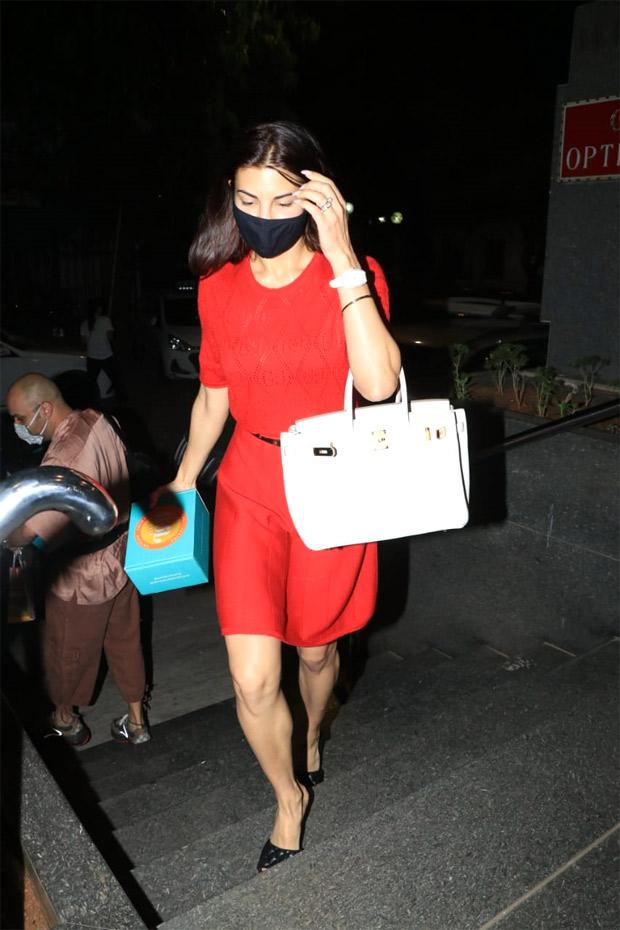 Jacqueline Fernandez' mini red dress will spruce up your summer wardrobe