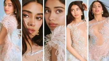Janhvi Kapoor makes a statement in dreamy sheer and feather dress