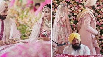 Jasprit Bumrah and Sanjana Ganesan looked resplendent at their wedding in custom Sabysachi couture