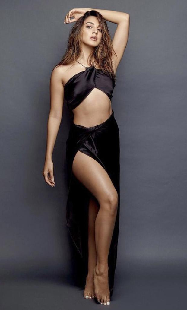 Kiara Advani sets the internet ablaze in black bralette and thigh high satin skirt 3