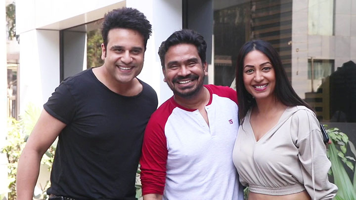 Krushna Abhishek with wife spotted at saltwater cafe in Bandra
