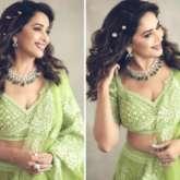 Madhuri Dixit's embellished green lehenga is perfect for mehendi ceremony this wedding season