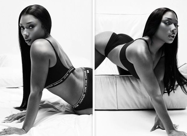 Megan Thee Stallion is the HOT GIRL in Calvin Klein's new monogram bra and underwear spring 2021 campaign