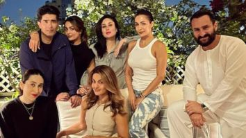 New parents Saif Ali Khan and Kareena Kapoor Khan pose with Karisma Kapoor, Malaika Arora, Manish Malhotra and more