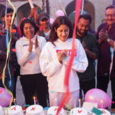 On The Sets: Janhvi Kapoor looks thrilled as she celebrates her birthday with the crew of Good Luck Jerry