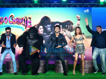 Aadar Jain, Jackie Shroff, Elnaaz Norouzi and others snapped at the trailer launch of Hello Charlie at JW Marriott in Juhu