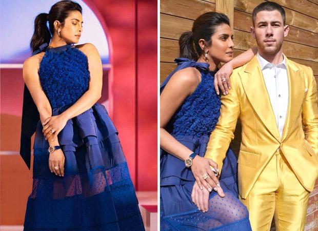 Priyanka Chopra speaks the language of glamour in Greta Constantine's blue midi-dress for Oscars 2021 nominations