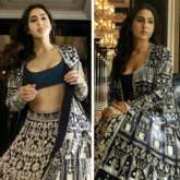 Sara Ali Khan is paradisal dream engulfed in blue and silver heavily embroidered lehenga from Manish Malhotra's Nooraniyat collection