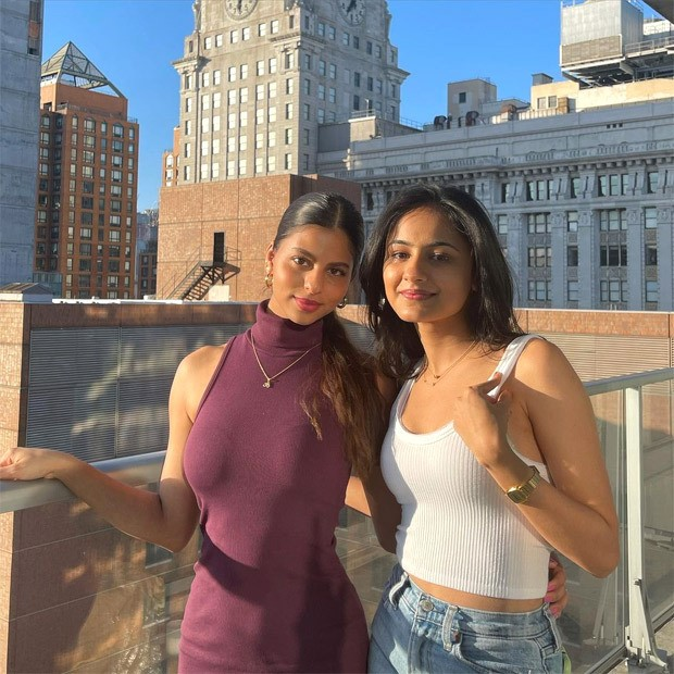 Suhana Khan's mauve halter neck midi dress is perfect for summer outings