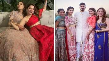 Tamannaah Bhatia makes us swoon in red and blue lehengas at her friend's wedding