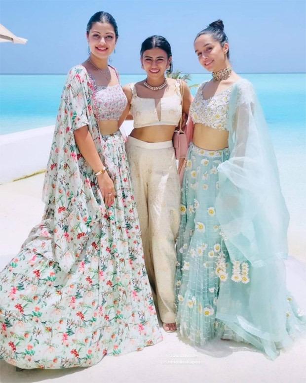 INSIDE PICTURES: Shraddha Kapoor strikes a pose with family and rumoured boyfriend Rohan Shreshta at cousin Priyanka Sharma's haldi ceremony