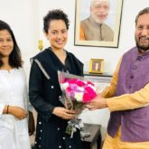 Kangana Ranaut meets I&B Minister Prakash Javadekar; says they discussed 'discrimination' against women and outsiders in the film industry