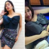 Janhvi Kapoor struggles to change her outfit in her car as she transitions from a glamorous look to a casual look