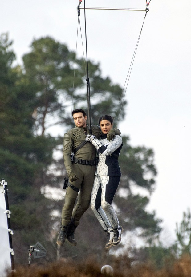 Priyanka Chopra and Richard Madden perform mid-air stunt in leaked pictures of Amazon Prime Video series Citadel