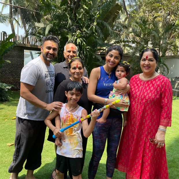 Shilpa Shetty shares family pictures from Holi celebration as baby Samisha steals the show