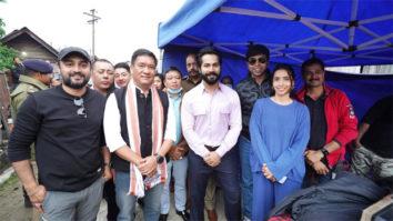 On The Sets: CM of Arunachal Pradesh Pema Khandu visits Varun Dhawan and cast of Bhediya