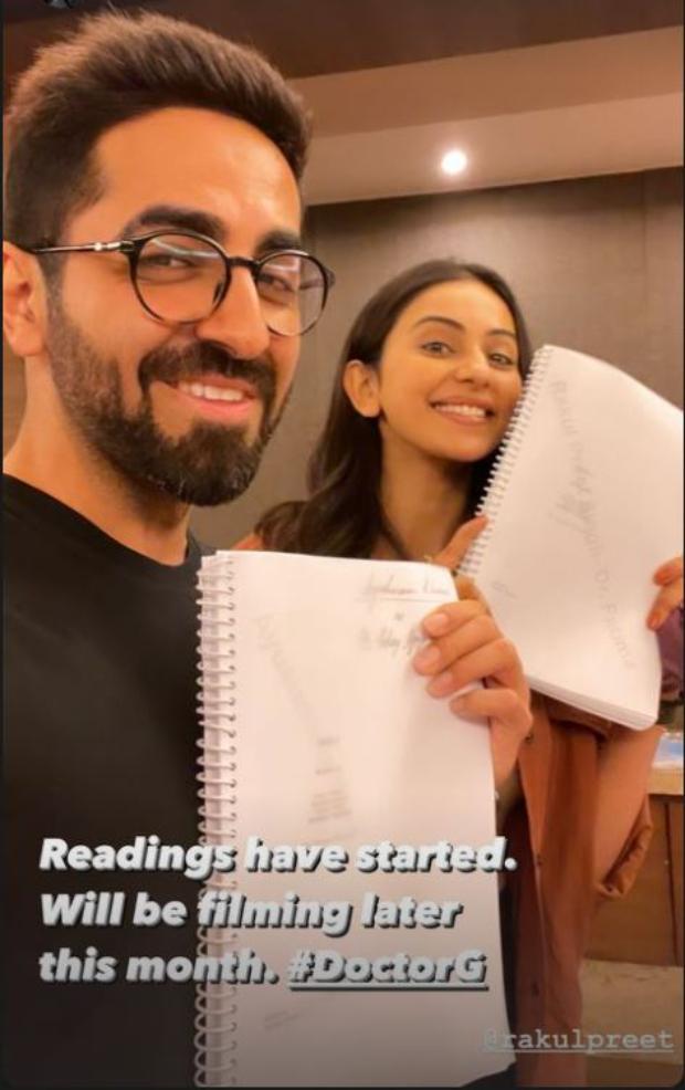 Ayushmann Khurrana and Rakul Preet Singh start reading sessions for Doctorji