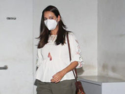 Dia Mirza spotted outside the salon in Bandra
