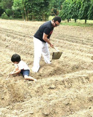 Earth Day 2021: Kareena Kapoor Khan shares pictures of her 'favourite boys' Saif Ali Khan and Taimur Ali Khan planting trees
