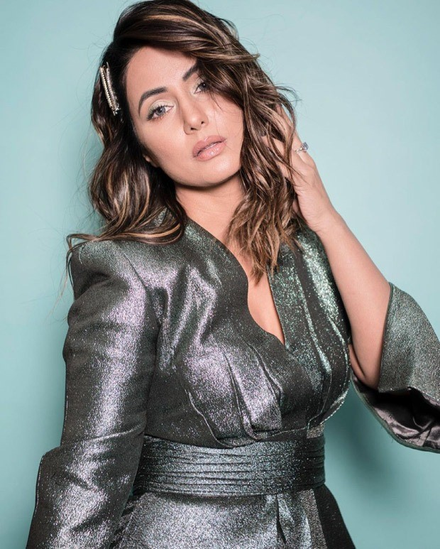 Hina Khan is all about glam in metallic co-ord set