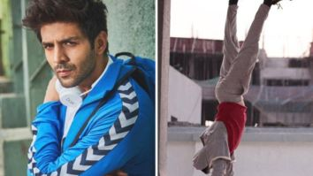 Kartik Aaryan does a perfect headstand, leaving fans amazed with his fitness regime