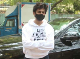 Kartik Aaryan spotted at dubbing studio in Andheri