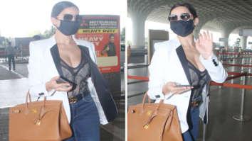 Nora Fatehi pairs semi sheer lacy corset with skinny denims, carries Hermès Birkin bag worth Rs. 7 lakhs