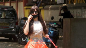 Photos: Giorgia Andriani spotted outside her house in Bandra
