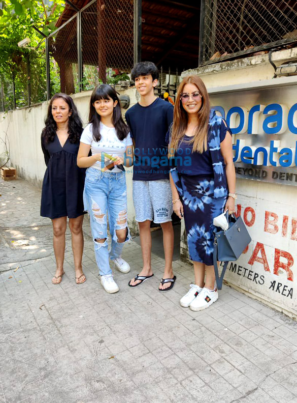 Photos Mahima Choudhary snapped with her kids at a clinic in Juhu (1)