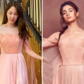 The Penthouse actress Lee Ji Ah wore same Georges Chakra peach gown that Alia Bhatt wore during IIFA 2019