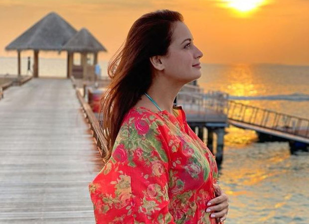 GOOD NEWS! Dia Mirza announces her pregnancy with a picture of her baby bump - Bollywood Hungama