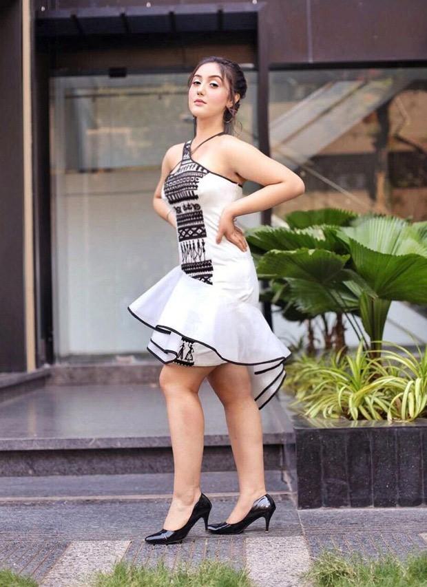 Ashnoor Kaur dons an asymmetrical one-shoulder dress for her 17th birthday