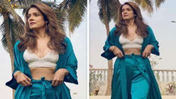 Chak De! India's Vidya Malavade creates helluva chic moment by pairing a bralette with satin blazer and pants