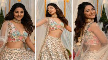 Hina Khan looks ethereal in floral lehenga in the song 'Patthar Wargi'