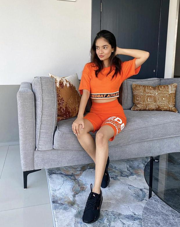 Khatron Ke Khiladi 11's Anushka Sen dons orange athleisure look in Cape Town, takes up Doja Cat, SZA's 'Kiss Me More' dance challenge