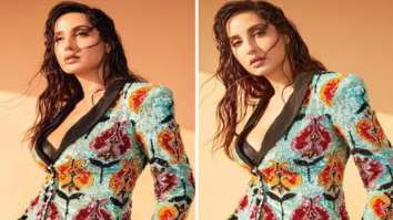 Nora Fatehi raises glam quotient in sparkly powersuit with floral motifs on Dance Deewane 3