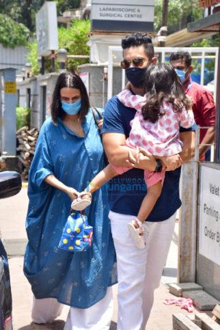 Photos: Neha Dhupia and Angad Bedi snapped at Surya Hospital in Santacruz