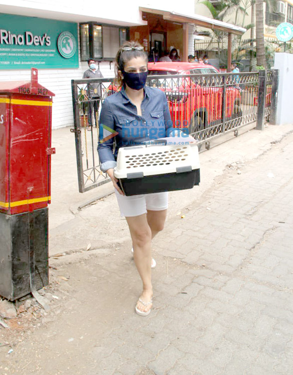 Photos Raveena Tandon spotted at a pet clinic in Khar (2)