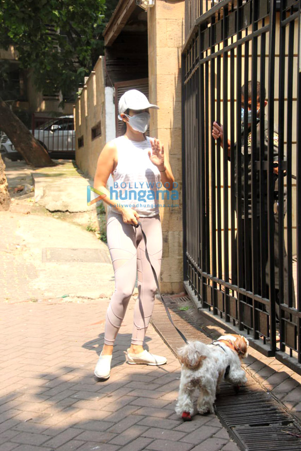 Photos: Sophie Choudry spotted on a morning walk in Bandra